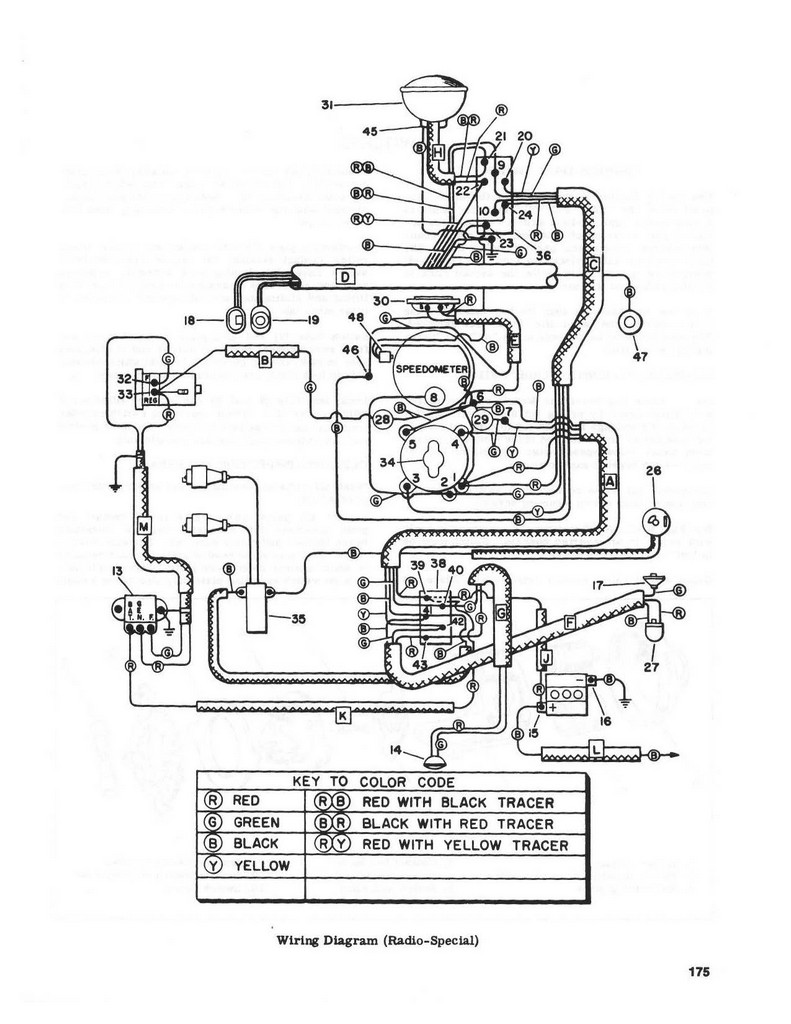 5.13 Electrical - Wiring diagram 1955 - 1957 (Radio Special) on infiniti g35 2003 radio wiring color code, gm radio wiring color code, 2002 rodeo radio wiring color code, radio coil color code, radio wire color codes,