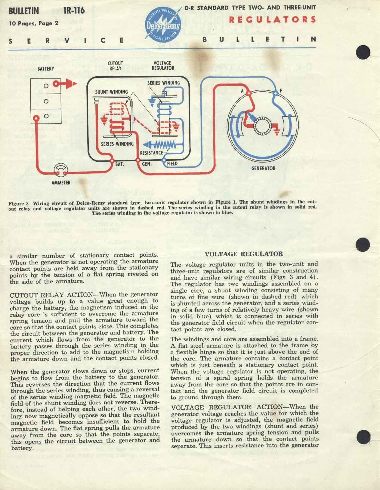[SCHEMATICS_48DE]  Delco-Remy Bulletin No. 1R-116 Standard type two- and three unit regulators   Delco Remy 1101355 Wiring Diagram      Panhead and Flathead site