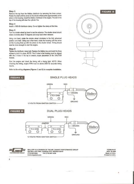 mallory unilite distributor installation instructions