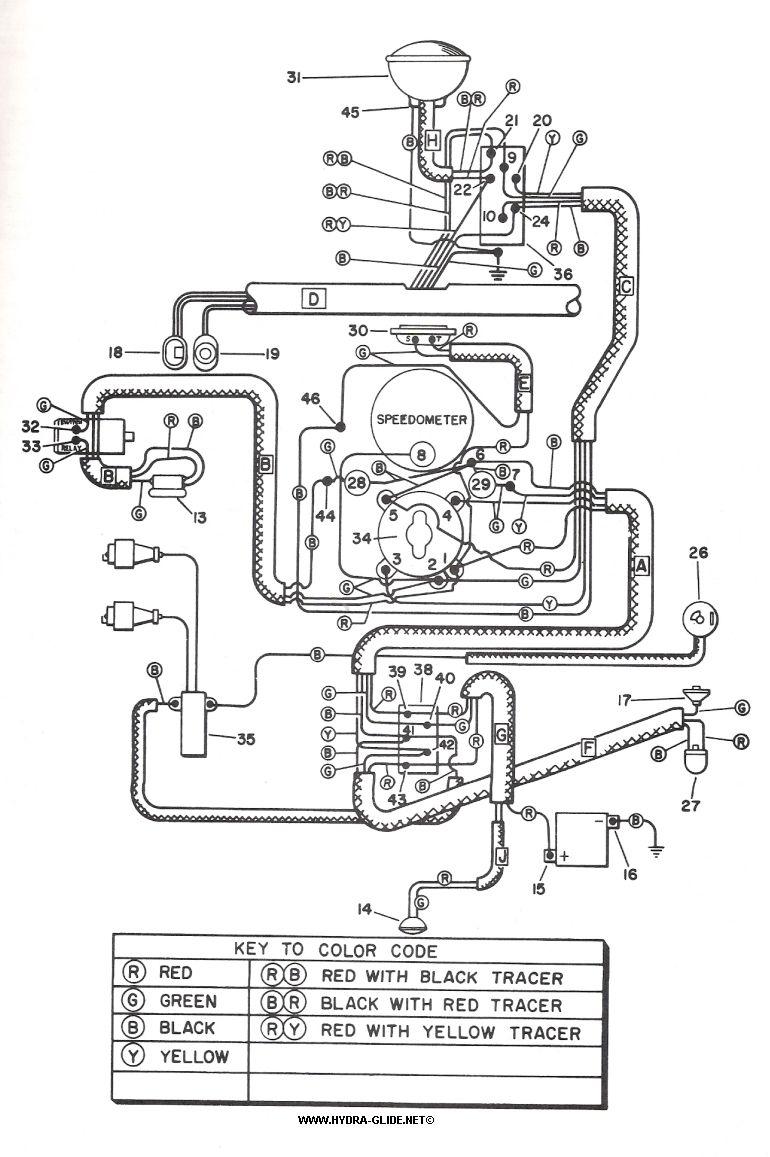 1955 - 1957 Wiring diagram